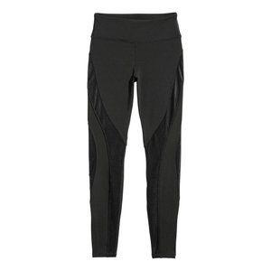 H&M Sport M Black Quick Dry Mesh Detail Leggings